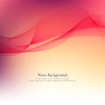 Fondo rojo elegante abstracto de la onda roja