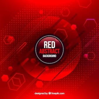 Fondo rojo en estilo abstracto