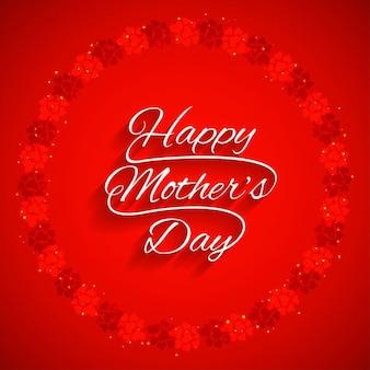 Fondo rojo de feliz día de la madre