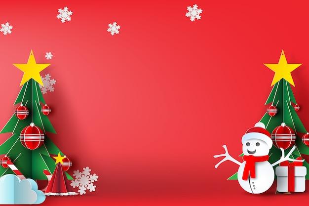 Fondo rojo feliz navidad