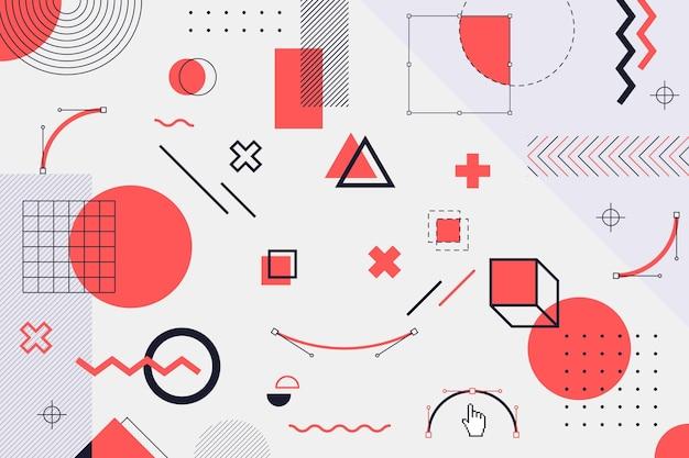 Fondo rojo de formas geométricas