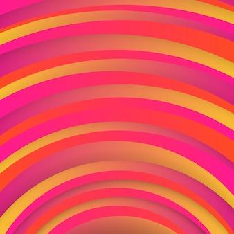 Fondo rojo geométrico de moda con formas de círculos abstractos. diseño de tarjetas. patrón dinámico futurista. ilustración vectorial