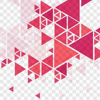 Fondo rojo geométrico moderno