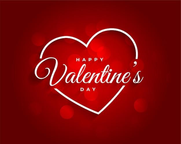 Fondo rojo hermoso día de san valentín