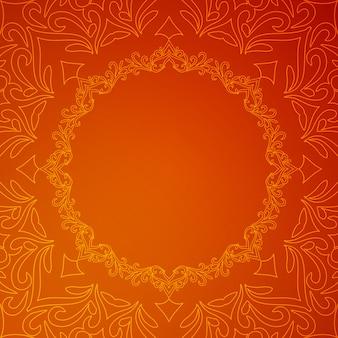 Fondo rojo de lujo con estilo abstracto