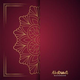 Fondo rojo con mandala de flores