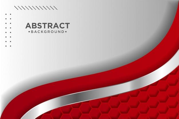 Fondo rojo moderno con efecto de capas de superposición 3d. elementos de diseño gráfico.