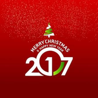 Fondo rojo de navidad y año nuevo 2017