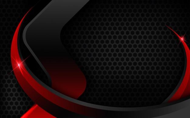 Fondo rojo negro con efecto de luz.