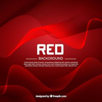 Fondo rojo de ondas