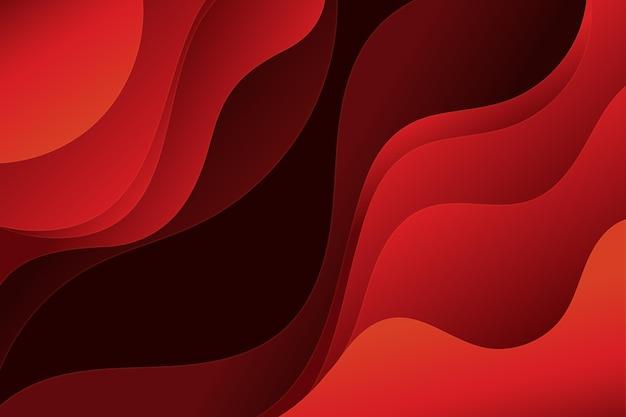 Fondo rojo ondulado estilo papel