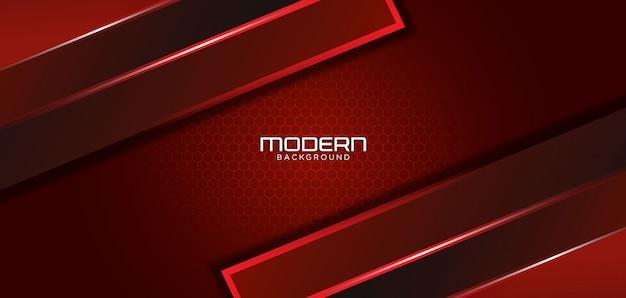 Fondo rojo oscuro moderno con forma abstracta