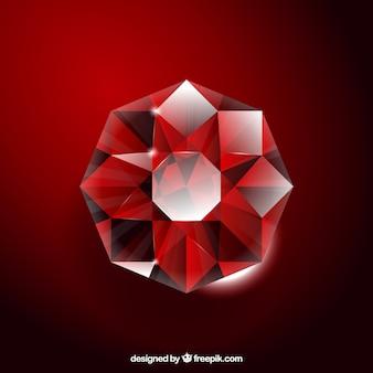 Fondo rojo de piedra preciosa
