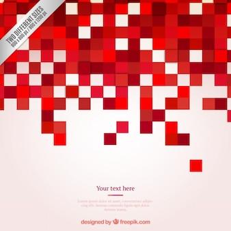 Fondo rojo de píxeles