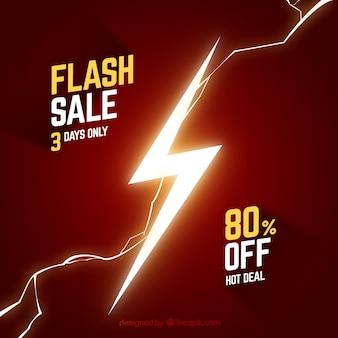 Fondo rojo de rebajas flash