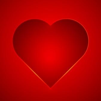Fondo rojo de san valentín con un corazón