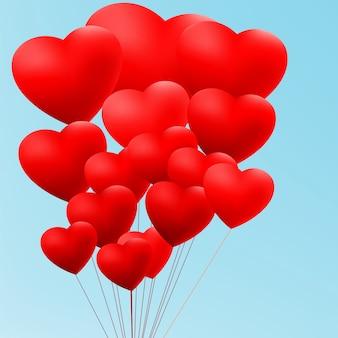 Fondo romántico con corazones. archivo incluido