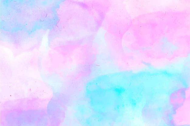 Fondo rosa y azul abstracto acuarela