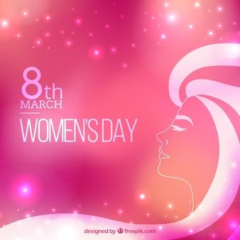 Fondo rosa brillante del día de la mujer