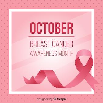 Fondo rosa concepto mes de prevención del cáncer de mama
