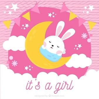 Fondo rosa de es una niña