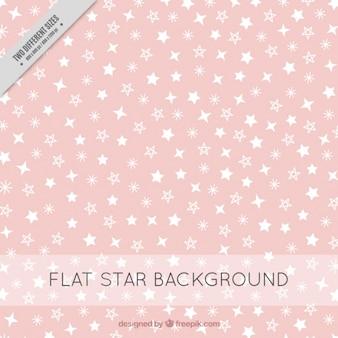 Fondo rosa con estrellas blancas