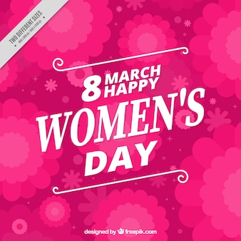 Fondo rosa de flores del día de la mujer