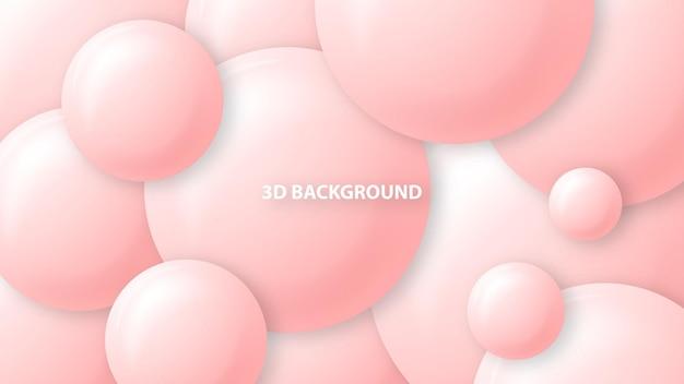 Fondo rosa con formas abstractas de círculo