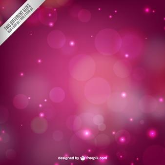 Fondo rosa con luces borrosas