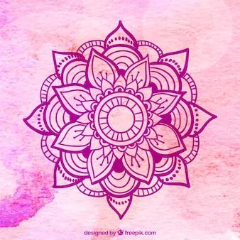 Fondo rosa de mandala