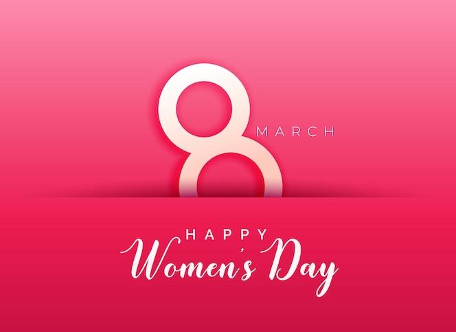 Fondo rosa para el día de la mujer feliz