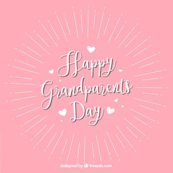 Fondo rosa vintage de feliz día de los abuelos