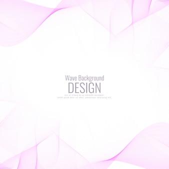 Fondo rosado abstracto de la onda