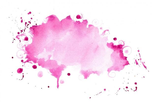 Fondo rosado abstracto de la textura de la salpicadura de la acuarela de la sombra