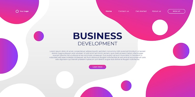 Fondo rosado anaranjado abstracto para la página de aterrizaje del negocio con la forma moderna y el concepto de tecnología simple. plantilla de ilustración de vector de bloque de página de destino de diseño web corporativo.
