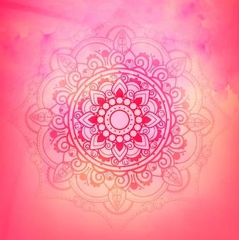 Fondo rosado de mandala