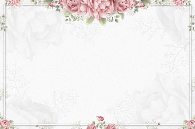 Fondo de rosas acuarela