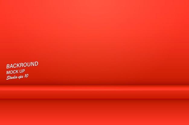 Fondo de sala de estudio de color rojo naranja vacío