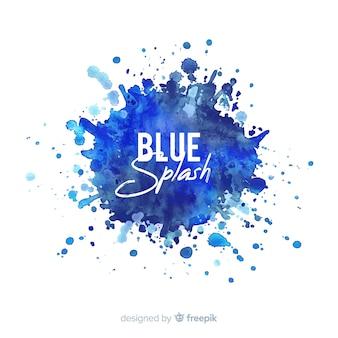 Fondo salpicadura azul acuarela