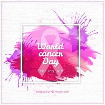 Fondo de salpicaduras abstractas del día mundial del cáncer