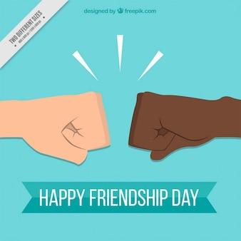 Fondo de saludo de amistad