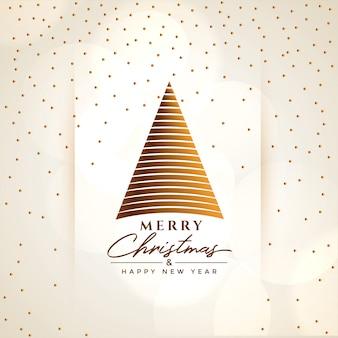 Fondo de saludo creativo feliz árbol de navidad