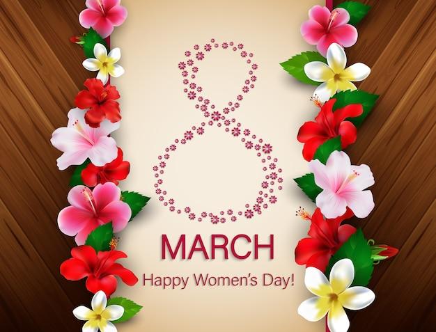 Fondo de saludo del día internacional de la mujer