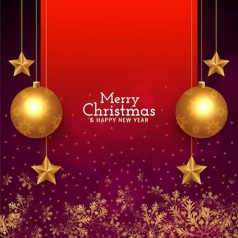 Fondo de saludo elegante abstracto feliz navidad