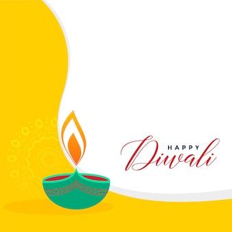 Fondo de saludo de estilo plano creativo diwali