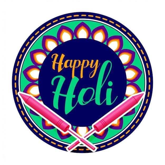 Fondo de saludo feliz celebración holi