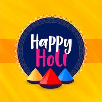 Fondo de saludo feliz festival holi