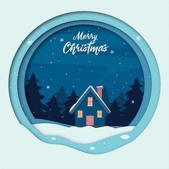 Fondo de saludo de feliz navidad