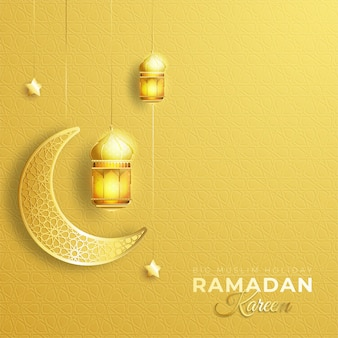 Fondo de saludo de ramadan kareem o eid mubarak