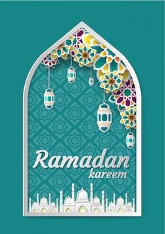 Fondo de saludo de ramadan kareem